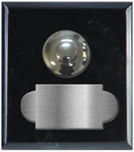 marbre noir maroc carré 62x70 étiquette+bouton poussoir chromés
