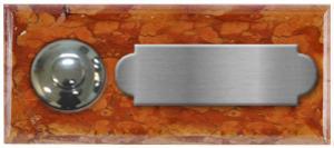 rouge veronne  40x92 étiquette+bouton chrome