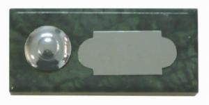 vert guatémala 40x92 étiquette+bouton chrome
