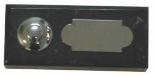 noir maroc 40x92 étiquette+bouton chrome