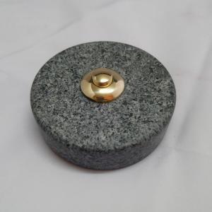 Sonnette Granit Gris bleuté D70 laiton