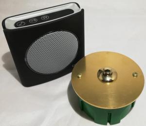 Bouton de sonnette laiton D80 + carillon sans fil