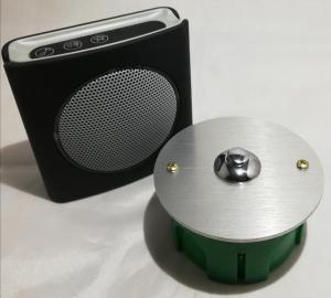 Bouton de sonnette chromé D80 + carillon sans fil