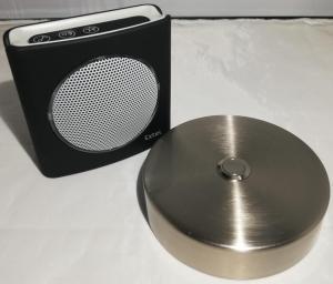 Sonnette alu gris D100 + carillon sans fil