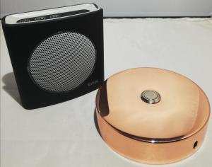 Sonnette alu rose D100 + carillon sans fil