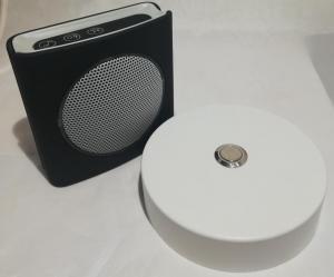 Sonnette alu blanc D100 + carillon sans fil