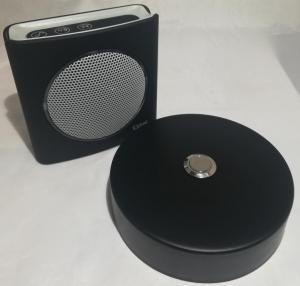 Sonnette alu noir D100 + carillon sans fil
