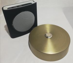 Sonnette alu bronze mat D100 + carillon sans fil