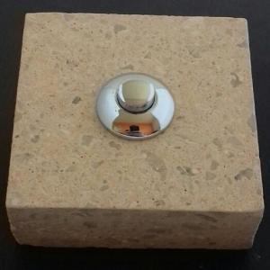Sonnette Béton Japonais Beige carré 65x65 chromé