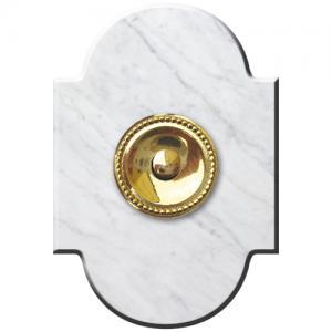 Marbre Chapeau 100x145 collerette Perlé Blanc