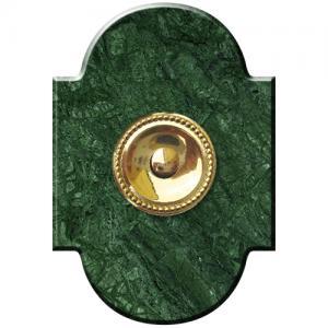 Marbre Chapeau 100x145 collerette Perlé Vert