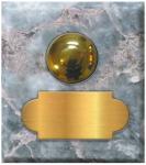 marbre gris tifflit carré 62x70 étiquette+bouton poussoir laiton