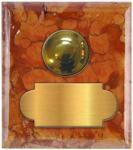 marbre rouge veronne carré 62x70 étiquette+bouton poussoir laiton