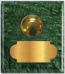 marbre vert guatémala carré 62x70 étiquette+bouton poussoir laiton